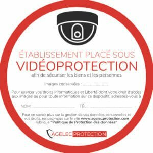 Autocollant vidéosurveillance